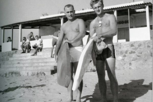 Australian surfers Sgt Don McDonald and Sapper Bruce Lauder, Vung Tau, CDS p 79