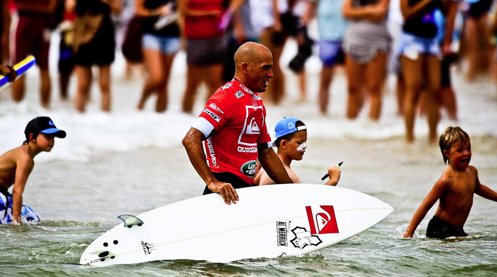 World Surfing Champion Kelly Slater's Surfboard